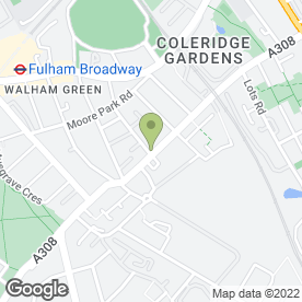 Map of Goddard Veterinary Group in Fulham, London, london