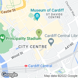 Map of Janet Butler Antique Jewellery in Cardiff, south glamorgan