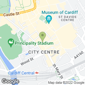 Map of Napier in Cardiff, south glamorgan