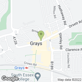 Map of All in One Express in Grays, essex
