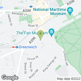 Map of HINDWOODS in Greenwich, London, london