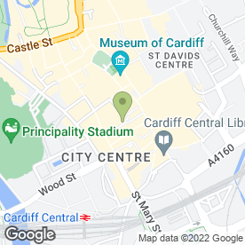 Map of Crumbs Kitchen in Cardiff, south glamorgan