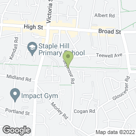 Map of C J Chick in Staple Hill, Bristol, avon