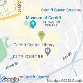 Map of Level 3 in CARDIFF, south glamorgan
