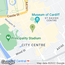 Map of Cafe Jazz in Cardiff, south glamorgan