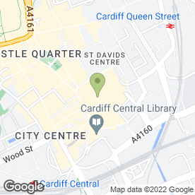 Map of Slaters in Cardiff, south glamorgan