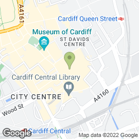 Map of Vivienne Westwood in Cardiff, south glamorgan