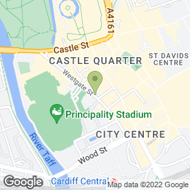Map of Jacques Vert in CARDIFF, south glamorgan