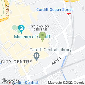 Map of Vodafone Ltd in Cardiff, south glamorgan