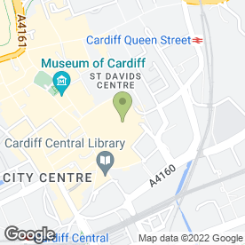 Map of Pret a Manger in Cardiff, south glamorgan