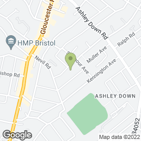 Map of CATHERINE AMESBURY HEALTH & BEAUTY in Bishopston, Bristol, avon