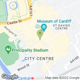 Map of Cotswold Outdoor in Cardiff, south glamorgan