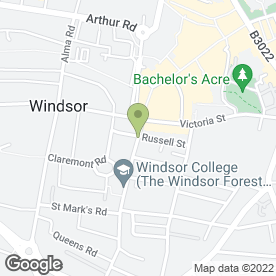 Map of Swinx Cafe in Windsor, berkshire
