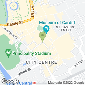 Map of Barocco in Cardiff, south glamorgan
