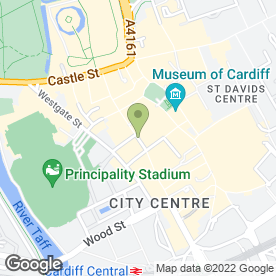 Map of Kookai in CARDIFF, south glamorgan