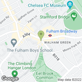 Map of Kinleigh Folkard & Hayward Letting Agents in Fulham, london