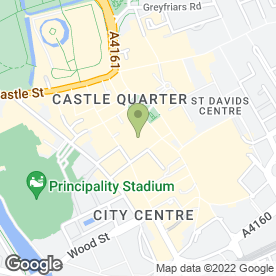 Map of Morgan De Toi in Cardiff, south glamorgan