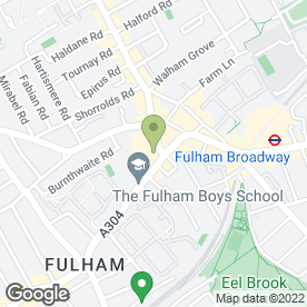 Map of Sally Salon Services in Fulham, London, london