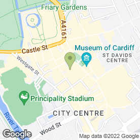 Map of DP Aquatics in Cardiff, south glamorgan