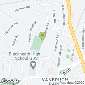 Map of Vanbrugh Community Association in Blackheath, London, london