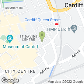 Map of The Harley Medical Group in Cardiff, south glamorgan