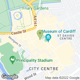 Map of Big Blue in Cardiff, south glamorgan