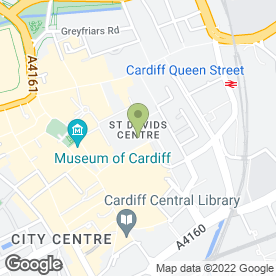 Map of Clarins Skin Spa in Cardiff, south glamorgan