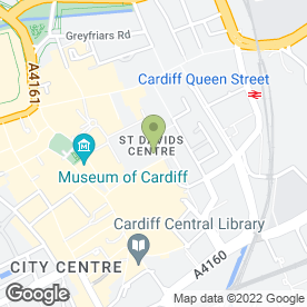 Map of Debenhams in Cardiff, south glamorgan
