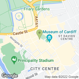 Map of 10 Feet Tall in Cardiff, south glamorgan