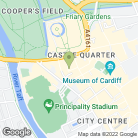 Map of Cardiff Violins in Cardiff, south glamorgan