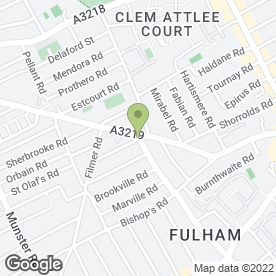 Map of The Fish Bowl Ltd in Fulham, London, london
