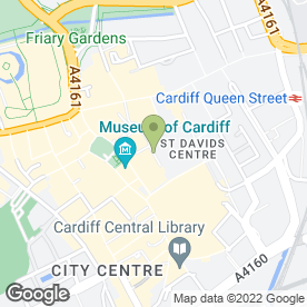 Map of O2 (UK) Ltd in Cardiff, south glamorgan