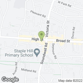 Map of ABC BLINDS (SOUTH WEST) in Staple Hill, Bristol, avon