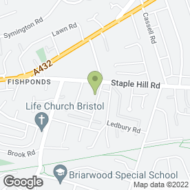 Map of The Bristol Decorating Company Ltd in Fishponds, Bristol, avon