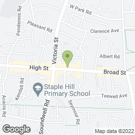 Map of Greggs in Staple Hill, Bristol, avon