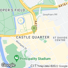 Map of Caffe Nero in Cardiff, south glamorgan