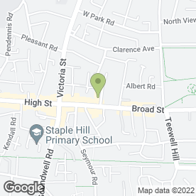 Map of Bunch Florist in Staple Hill, Bristol, avon