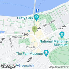 Map of Cutty Sark Cafe Restaurant in London
