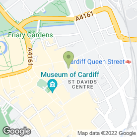 Map of Greggs in Cardiff, south glamorgan