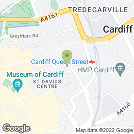 Map of Hicks Day Jones Westlake Chartered Surveyors in Cardiff, south glamorgan
