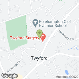 Map of Lindifayre in Twyford, Reading, berkshire