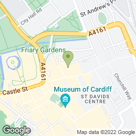 Map of PPM Locksmiths Ltd in Queen Street, Cardiff, south glamorgan