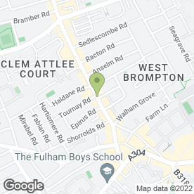 Map of Greggs in Fulham, London, london