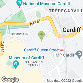 Map of Phones 4U Ltd in Cardiff, south glamorgan