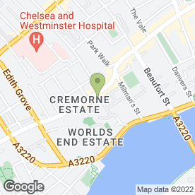 Map of World's End Nurseries in Chelsea, London, london