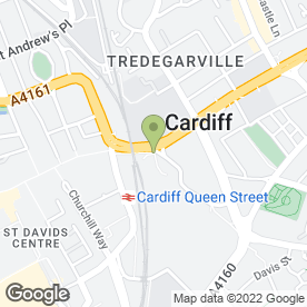 Map of Regus - Conference Facilities & Services in Cardiff, south glamorgan