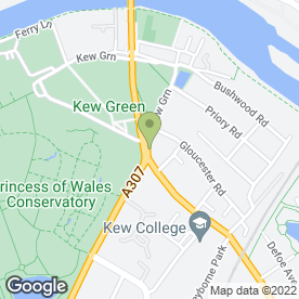 Map of Ceramics Cafe - Kew in Richmond, surrey