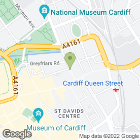Map of Vitality Gym & Health Club in Cardiff, south glamorgan