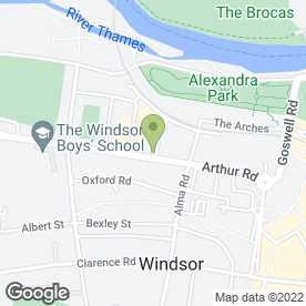 Map of Allwyn Sanger Solicitors in Windsor, berkshire