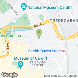 Map of PARC in Cardiff, south glamorgan